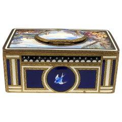 Antique Swiss Mechanical Automaton Bird Box Music Box