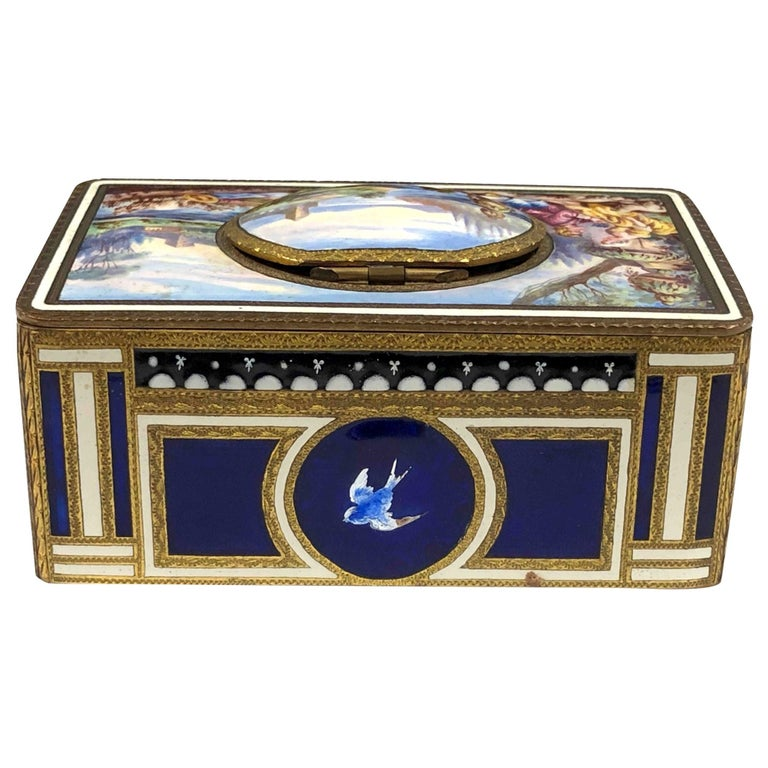 Antique Swiss Mechanical Automaton Bird Box Music Box For Sale