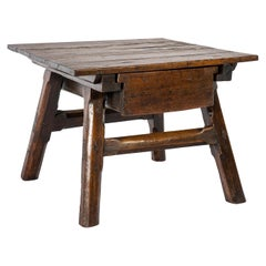 Antique Swiss Renaissance Merchants or Bankers Table Made in Pine and Fruitwood