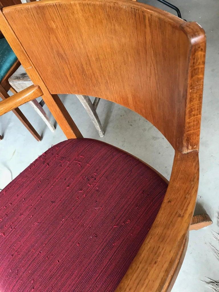 Jugendstil Antique Swivel Chair from Sweden 1920s in Solid Oak and Cast  Iron For Sale - Antique Swivel Chair From Sweden 1920s In Solid Oak And Cast Iron
