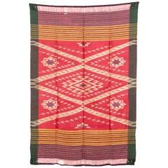 Antique Syrian Silk Hamam Wrap 'Peshtemal', Early 20th Century