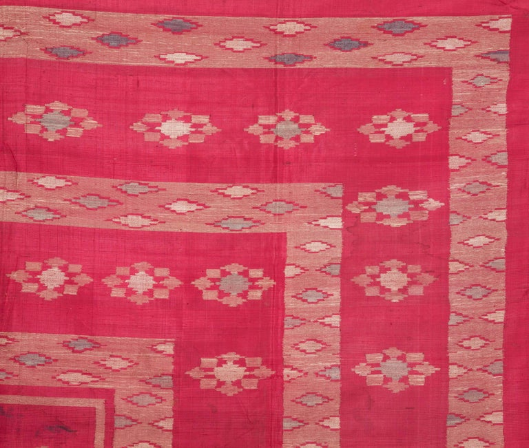 Islamic Antique Syrian Silk Textile from Aleppo For Sale