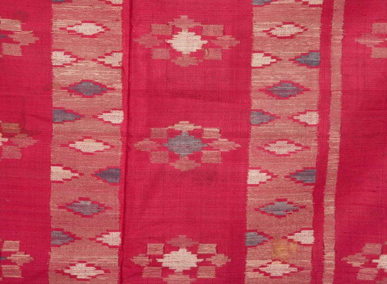 Antique Syrian Silk Textile from Aleppo In Good Condition For Sale In Istanbul, TR