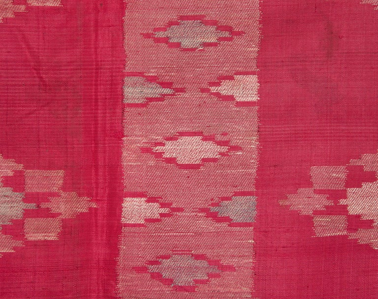 19th Century Antique Syrian Silk Textile from Aleppo For Sale