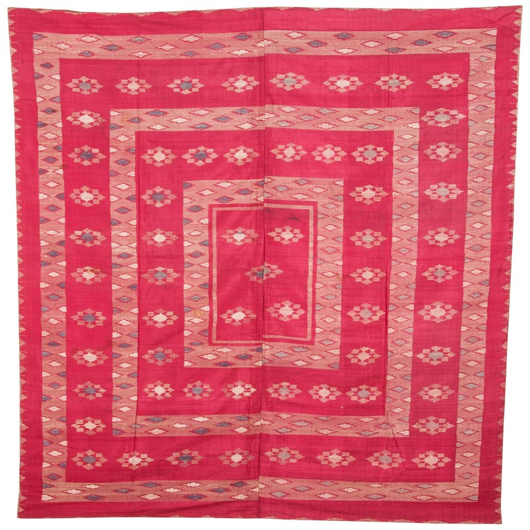 Antique Syrian Silk Textile from Aleppo For Sale