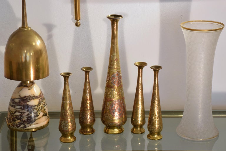 19th Century Antique Islamic Syrian Single Flower Vases, Set of Five For Sale 2
