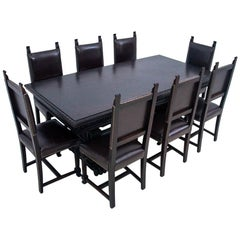 Antique Table and Eight Chairs, Renaissance Style, circa 1890, Renovated
