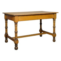 Antique Table, English, Victorian, Side, Oak, Late 19th Century, circa 1870