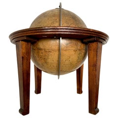 Antique Table Globe Schedler's New York Mahogany Paper