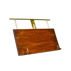 Antique Table or Piano Top Music Stand, Mahogany, Lectern, Book Rest, circa 1880