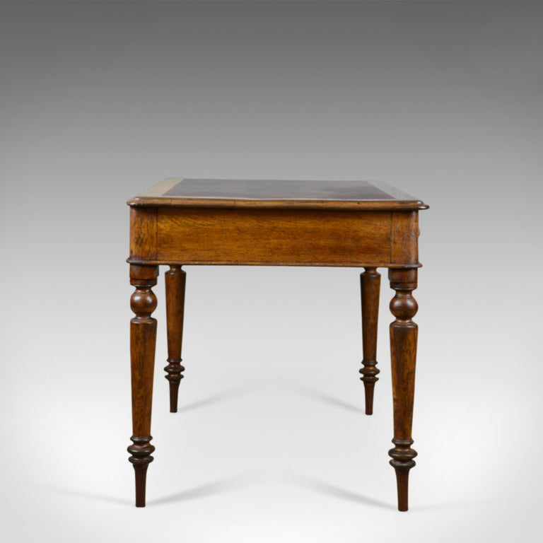Antique Table, Victorian Library Desk, English, Oak, 19th Century, circa  1870 - Antique Table, Victorian Library Desk, English, Oak, 19th Century