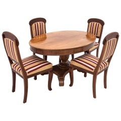 Antique Table with Chairs from circa 1900