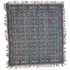 Antique Tablecloth Jaquar Loom Woven