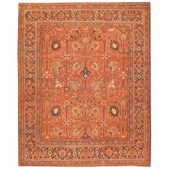 Antique Tabriz Persian Carpet, Early 20th Century. Size: 11 ft x 13 ft 9 in