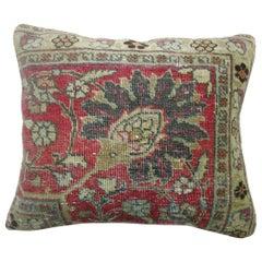 Antique Tabriz Persian Rug Pillow
