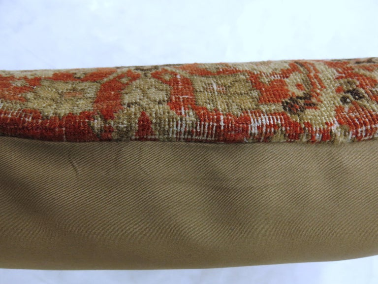 Pillow made from an early 20th century Persian Tabriz rug.  Measures: 16'' x 16