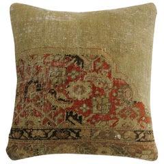 Antique Tabriz Rug Pillow