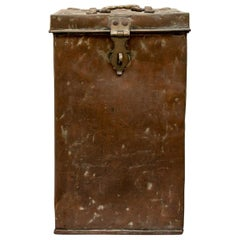 Antique Tall Copper Storage Chest