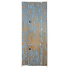 Antique Tall Country Cupboard in Hand Painted Ombre Finish