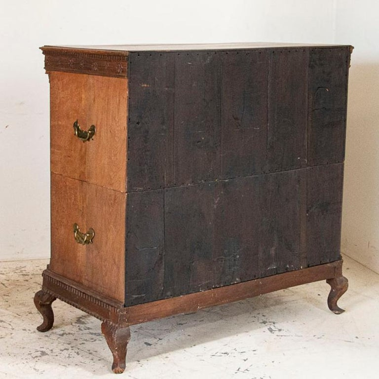 Antique Tall Oak Chest of Drawers In Good Condition For Sale In Round Top, TX