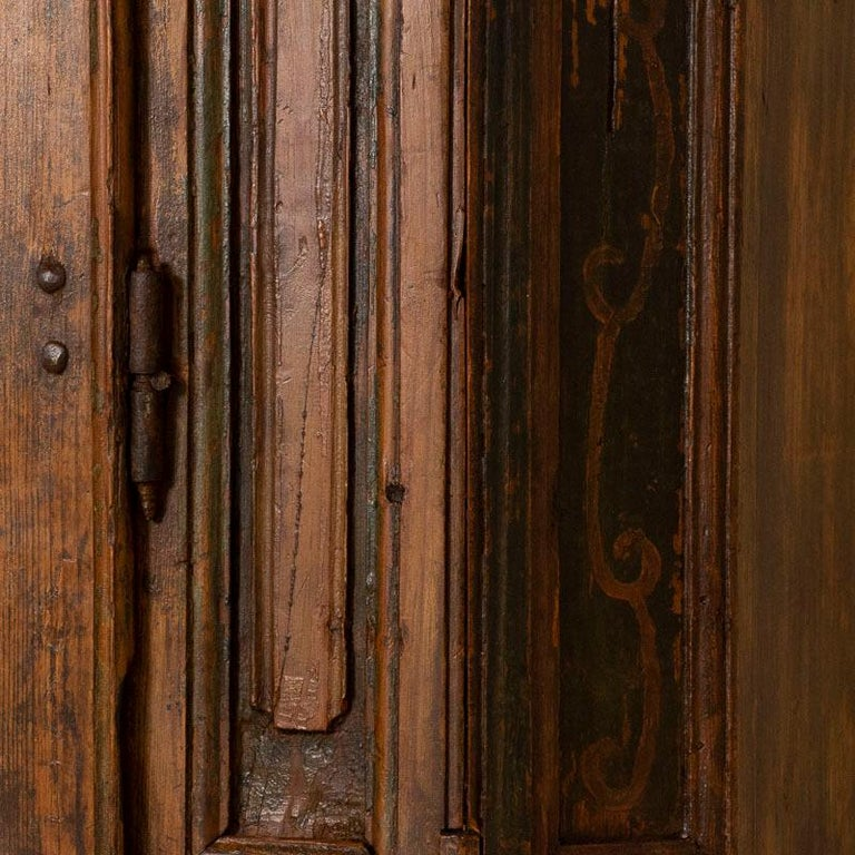 Russian Antique Tall Single Door Armoire with Drawer For Sale