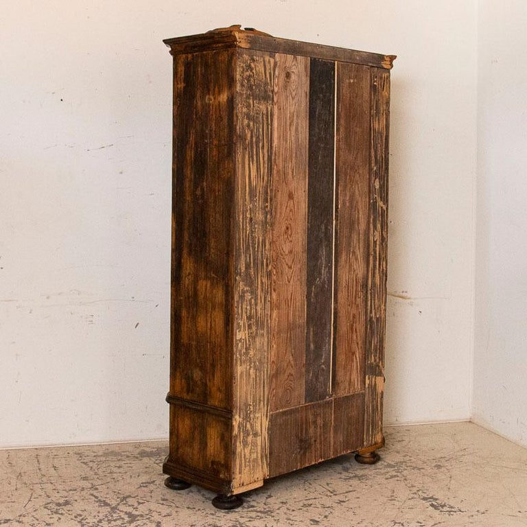 18th Century Antique Tall Single Door Armoire with Drawer For Sale
