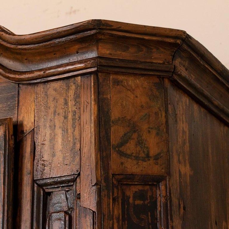 Antique Tall Single Door Armoire with Drawer For Sale 2