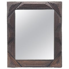 Antique Tramp Art Mirror from the Early 1900s