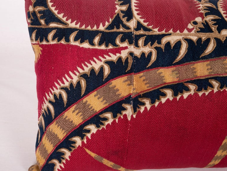 Antique Tashkent Suzani Pillow Case Made from a 19th Century Suzani In Good Condition For Sale In Istanbul, TR
