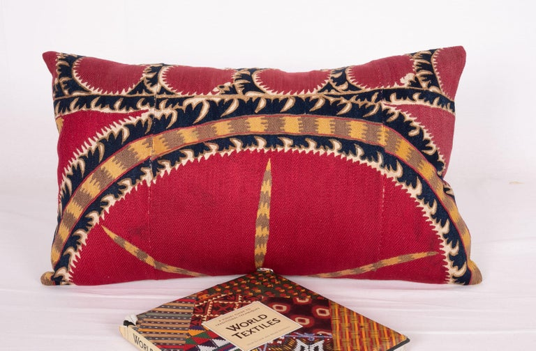 Silk Antique Tashkent Suzani Pillow Case Made from a 19th Century Suzani For Sale