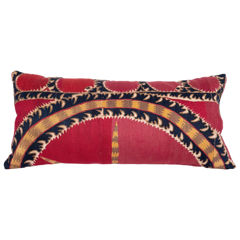 Antique Tashkent Suzani Pillow Case Made from a 19th Century Suzani