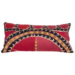 Antique Tashkent Suzani Pillow Case Made from a 19th Century Suzani