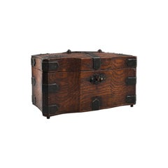 Antique Tea Box, English, Oak, Iron, Connoisseur Caddy, Case, Georgian