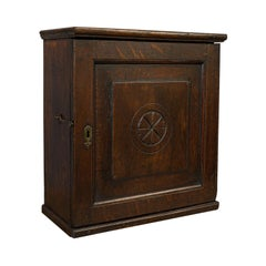 Antique Tea Cabinet, English, Oak, Spice, Apothecary Case, Georgian, circa 1800