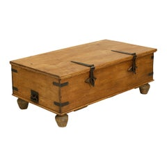 Antique Teak Trunk, Chest Coffee Table