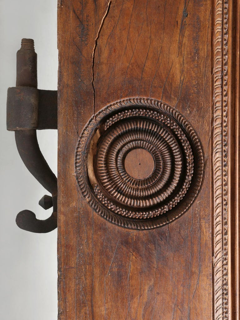 Antique Teak Wood Door Frame Imported from India with Exquisite Carving Details For Sale 4