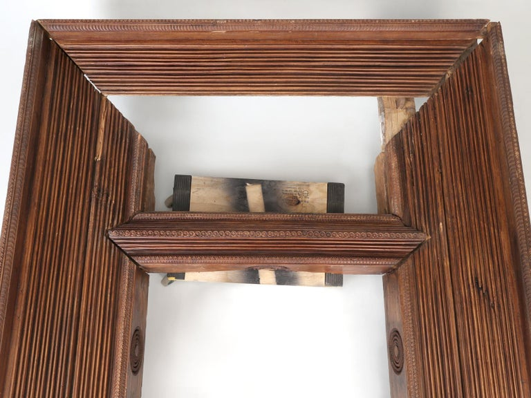 Antique Teak Wood Door Frame Imported from India with Exquisite Carving Details For Sale 8