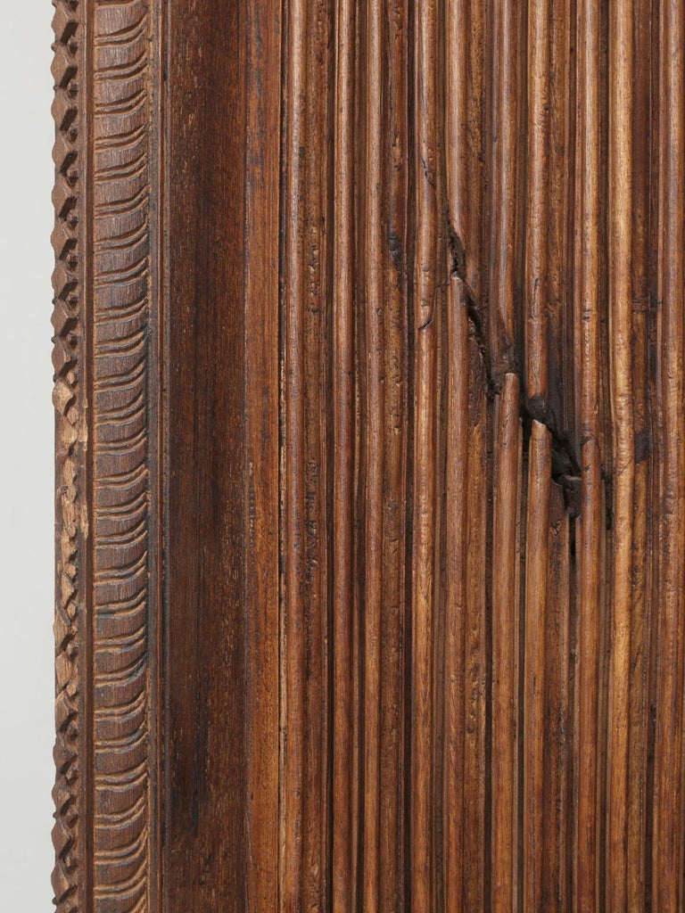 Antique Teak Wood Door Frame Imported from India with Exquisite Carving Details For Sale 10
