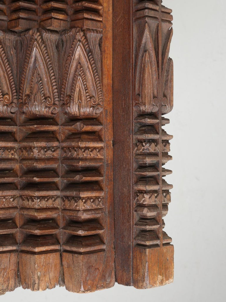 Indian Antique Teak Wood Door Frame Imported from India with Exquisite Carving Details For Sale