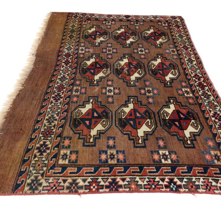 Antiker Turkmenischer Teppich Tekke Yomud Yomuden Saryken Tschowal