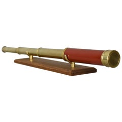 Antique Telescope, Three-Draw Refractor, English, Georgian, circa 1800