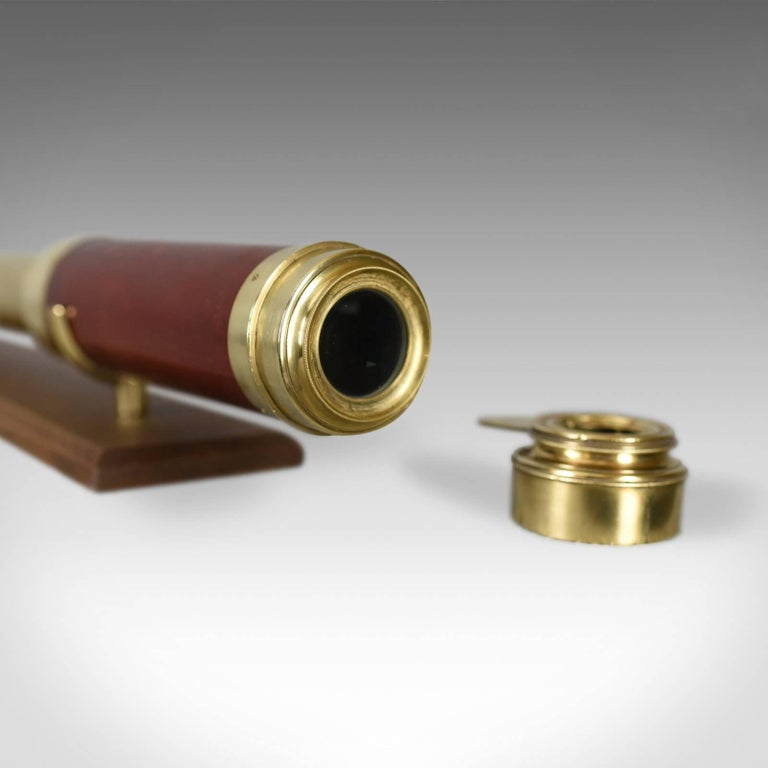 18th Century Antique Telescope, Three-Draw Refractor, English, Late Georgian, circa 1800 For Sale