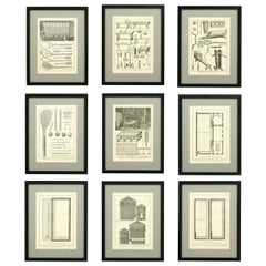 Antique Tennis Engravings, Paulmerie, Set of 9