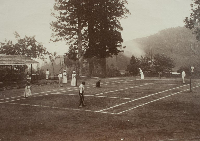 Antique Tennis Photograph, Colonial Tennis Scene In Good Condition For Sale In Oxfordshire, GB