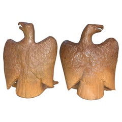 Antique Terra Cotta Federal Eagles 'Pair'