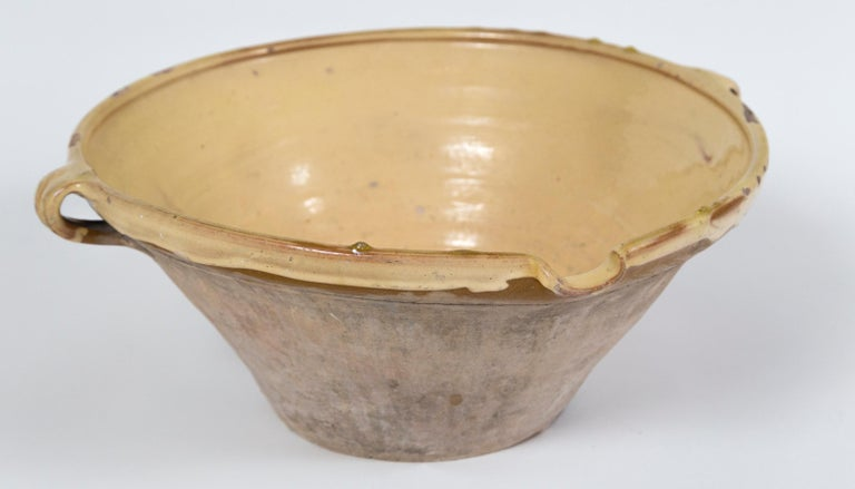 Terracotta Antique Terra Cotta 'Tian' Bowl, France, Late 19th Century For Sale