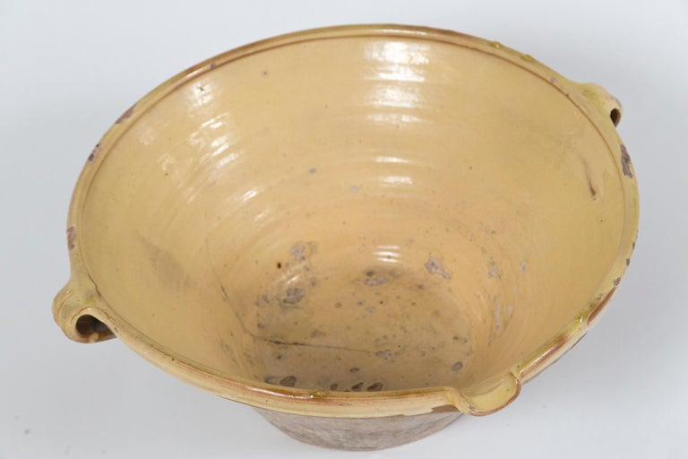 Antique Terra Cotta 'Tian' Bowl, France, Late 19th Century For Sale 2