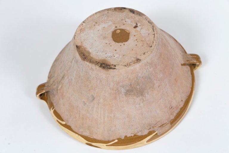 Antique Terra Cotta 'Tian' Bowl, France, Late 19th Century For Sale 3