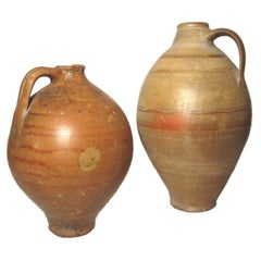 Antique Terracotta Clay Handled Oil Jars