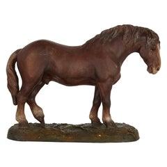 Antique Terracotta Equestrian Model of a Horse